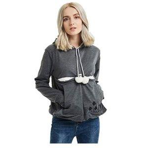 Jackets & Blazers - Long Sleeve Kangaroo Pullover Hoodie
